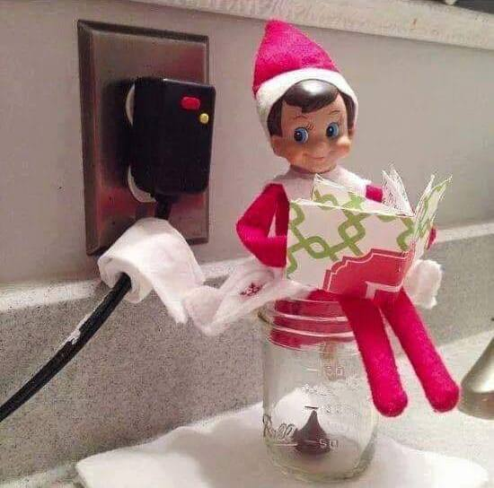 Pooping Elf on the Shelf