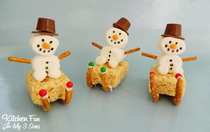 Snowman Sleigh Treats for Christmas!