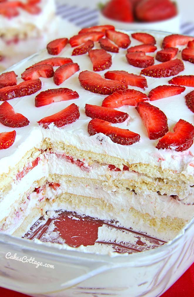 No-Bake Strawberry Ice Box Cake...these are the BEST Cake Recipes!