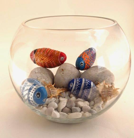 Painted Fish Rocks