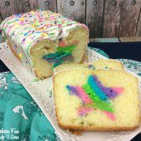 Easy Rainbow Birthday Surprise Loaf Cake