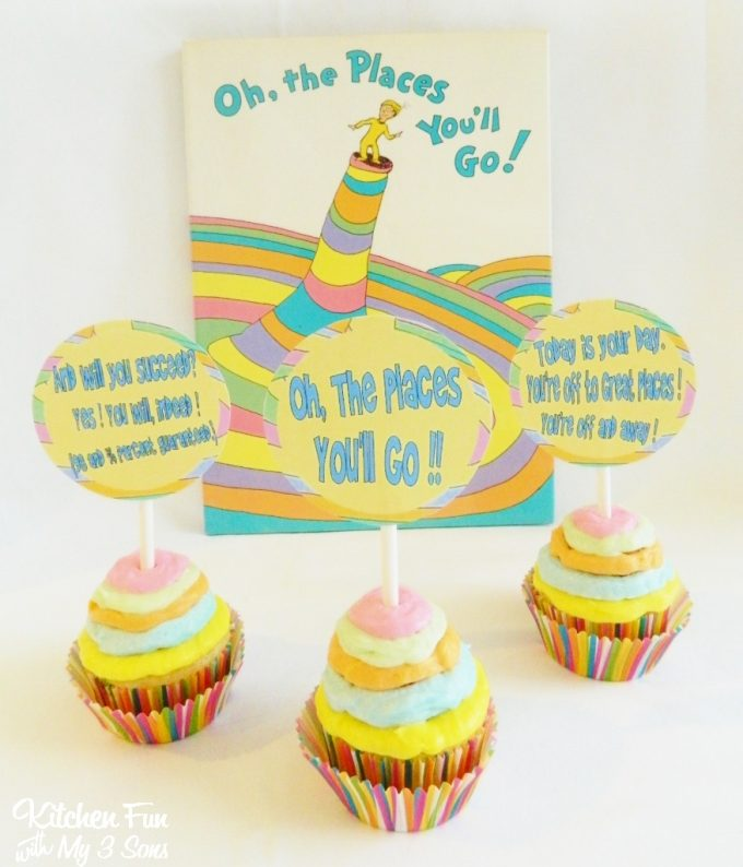 Dr. Seuss Oh the Places You'll Go Cupcakes