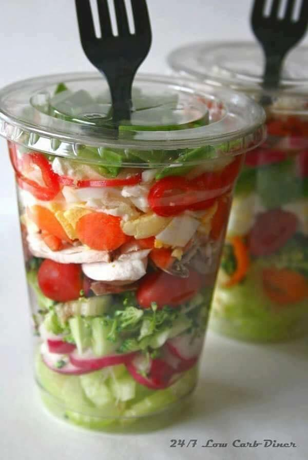 Salad in a Cup...these are the BEST Salad ideas & Recipes!