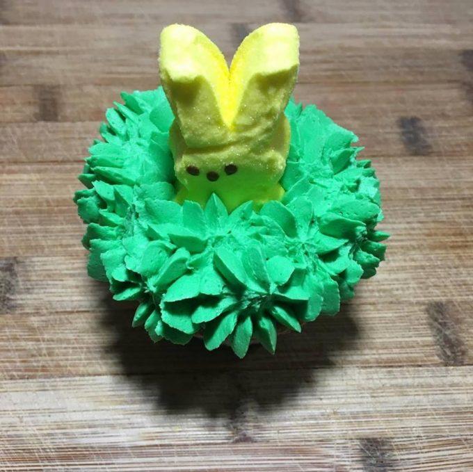 Peeps Easter Bunny Cupcakes