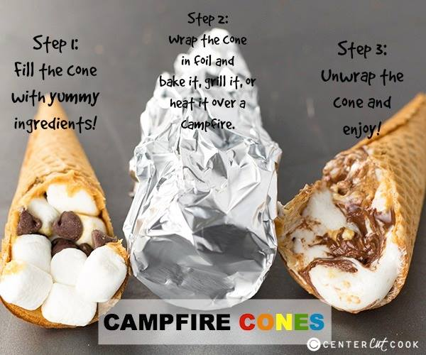 Campfire Cones...these are the BEST Camping Recipes!