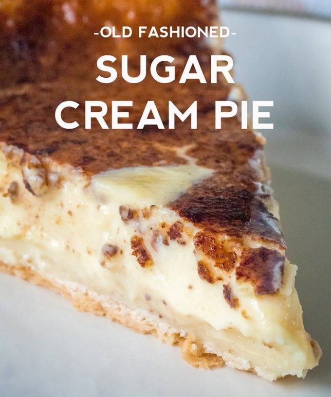 Old-Fashioned Sugar Cream Pie