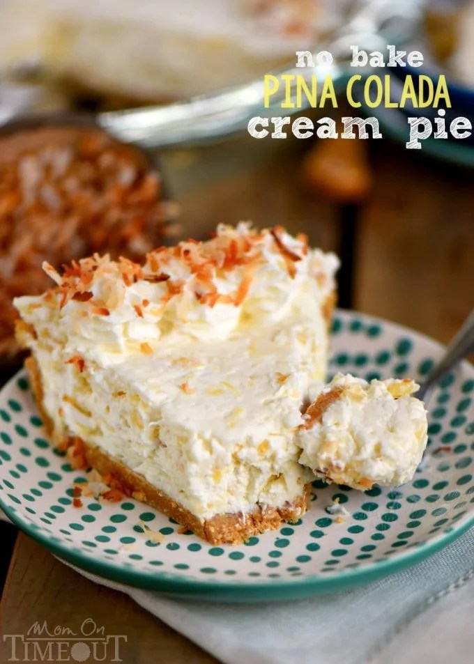 No-Bake Pina Colada Cream Pie