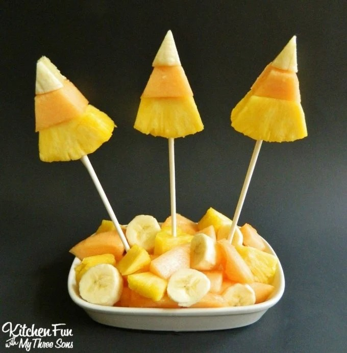 Candy Corn Fruit Snack