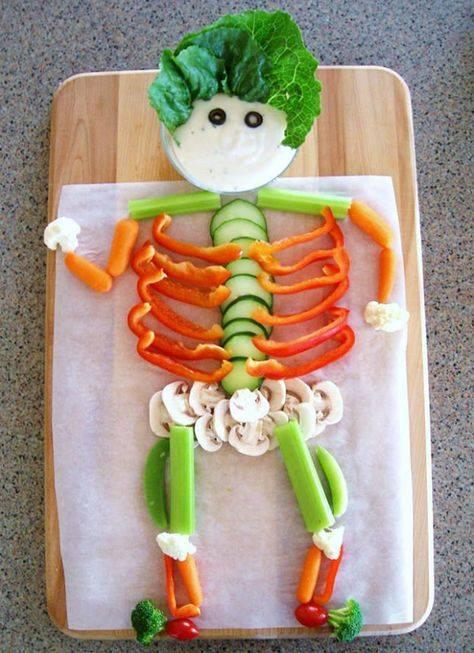 Veggie Skeleton for a Halloween Party...so fun!
