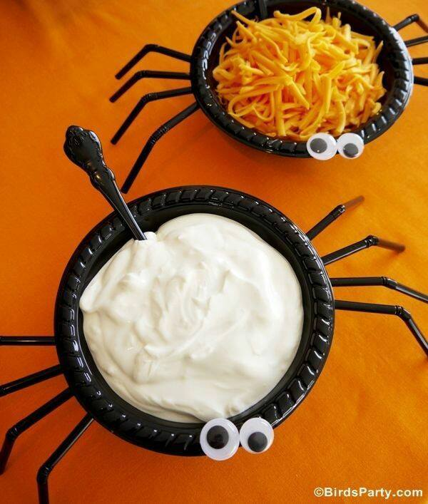How to make Spider Dip Bowls