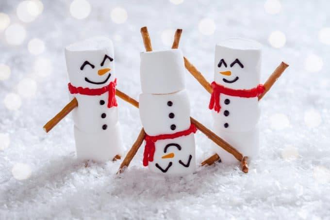 Christmas Marshmallow Snowman