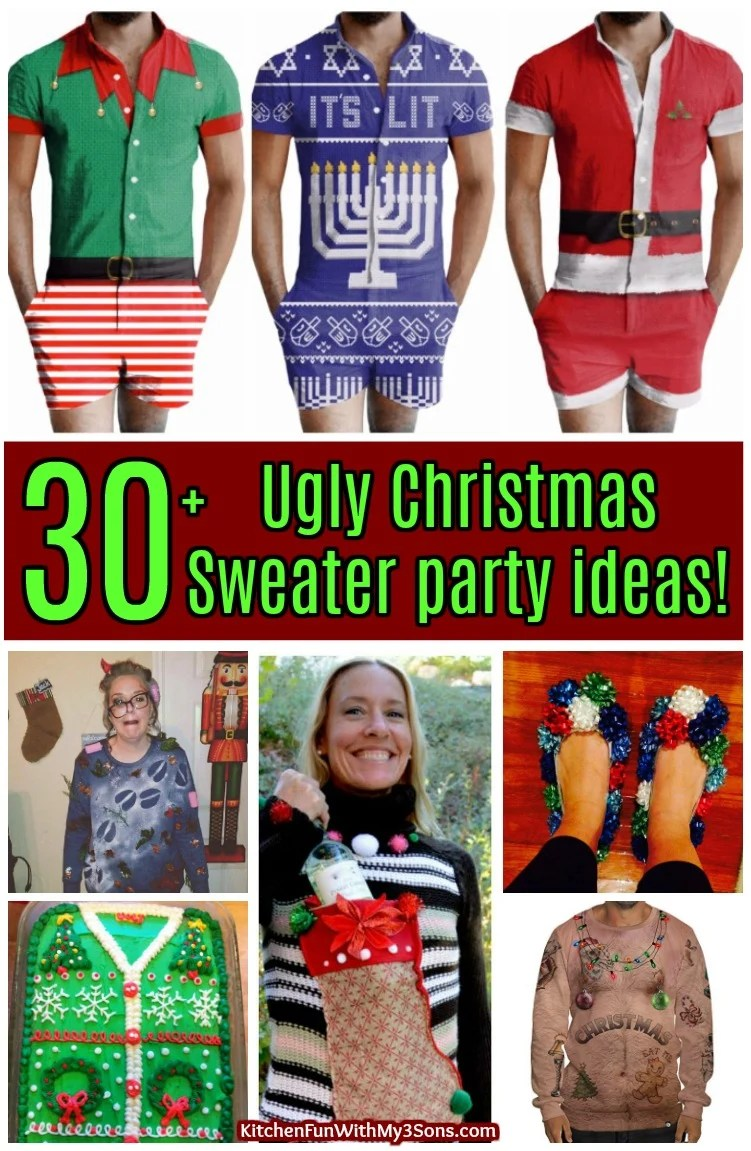 The BEST Ugly Christmas Sweater party ideas!