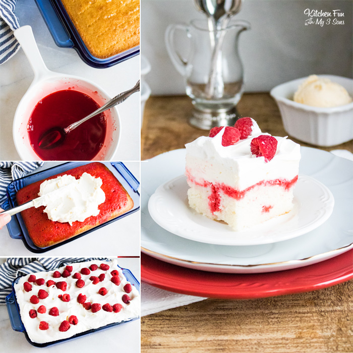 Raspberry Cheesecake Poke Cake
