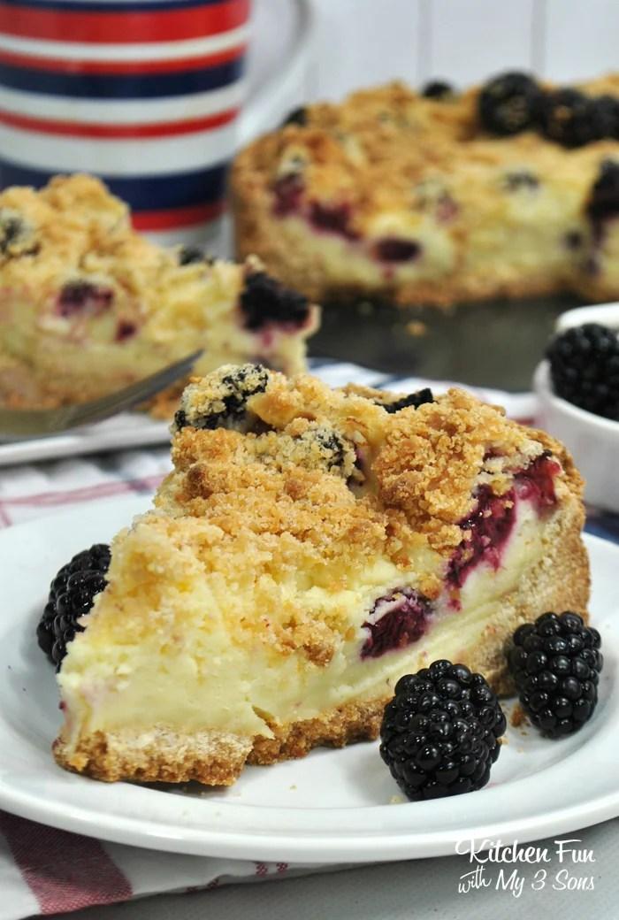 Blackberry Crumb Cheesecake
