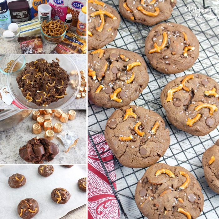 Rolo Stuffed Salted Caramel Cookies