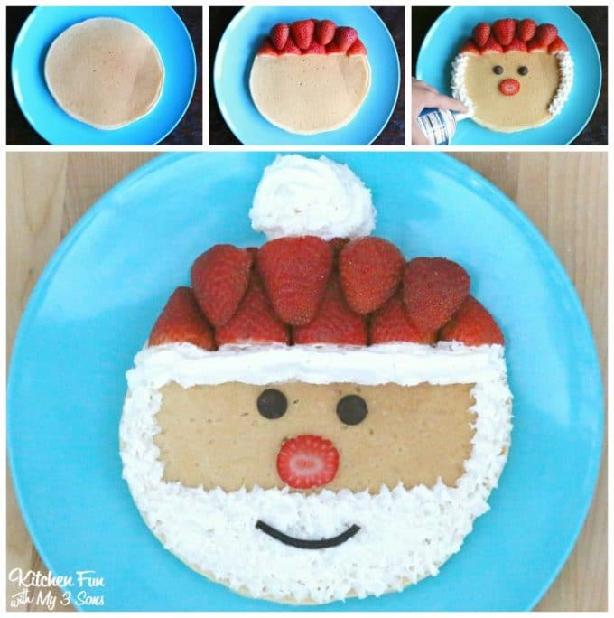 Santa Pancakes - Over 30 of the BEST Christmas Breakfast ideas!