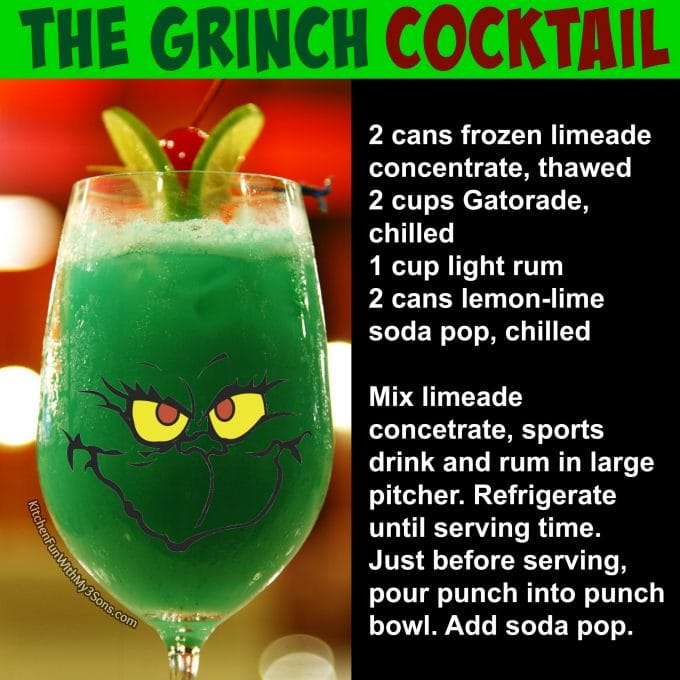 The Grinch Cocktail for Christmas