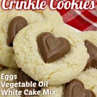 Valentine Crinkle Cookies