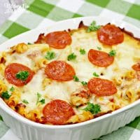 Pepperoni Pizza Baked Ziti Recipe