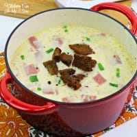 Reuben Soup with corn beef and sauerkraut together with chicken broth and swiss cheese makes a recipe that will put you in mind of the uber-famous sandwich.