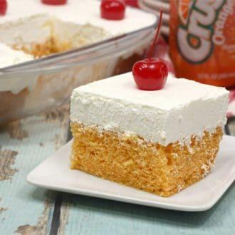 I'm sharing one of the easiest, sweetest, most unique cakes you can possibly make - Orange Crush Cake. (Yep, Orange Crush soda!)