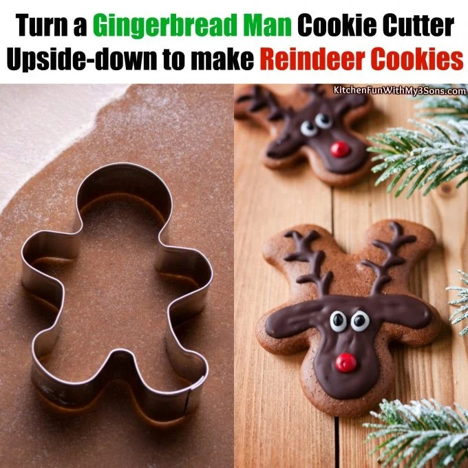 Gingerbread Men turned into Reindeer Cookies
