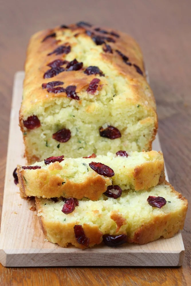 Cranberry Lemon Zucchini Bread Recipe