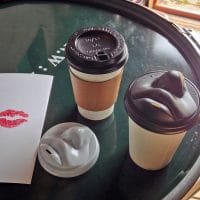 Human Face Lids Let You Kiss Your Morning Coffee Cup