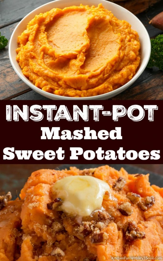 Instant-Pot Mashed Sweet Potatoes - Thanksgiving Side Dishes