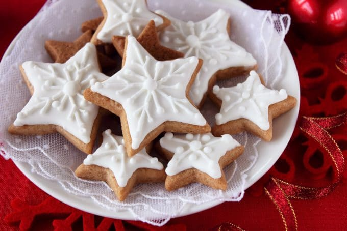 Snowflake Cookies with Icing