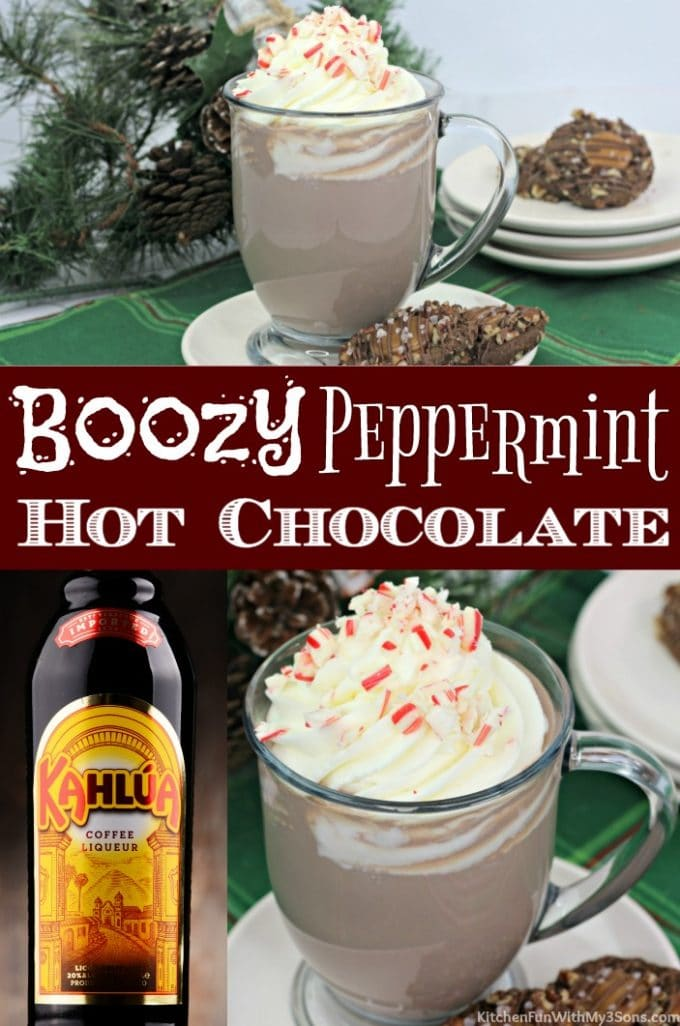 Boozy Peppermint Hot Chocolate