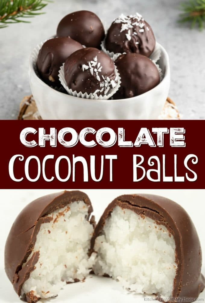 Chocolate Coconut Balls Collage