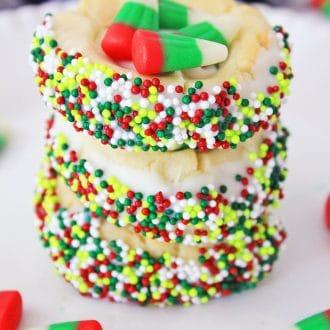 Christmas Candy Corn Cookies