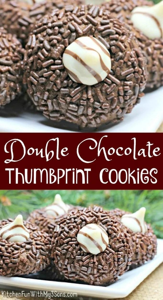 Double Chocolate Thumbprint Cookies