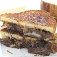 Brisket Grilled Cheese Sandwich