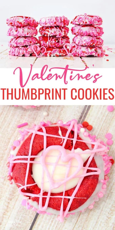 Valentine Thumbprint Cookies