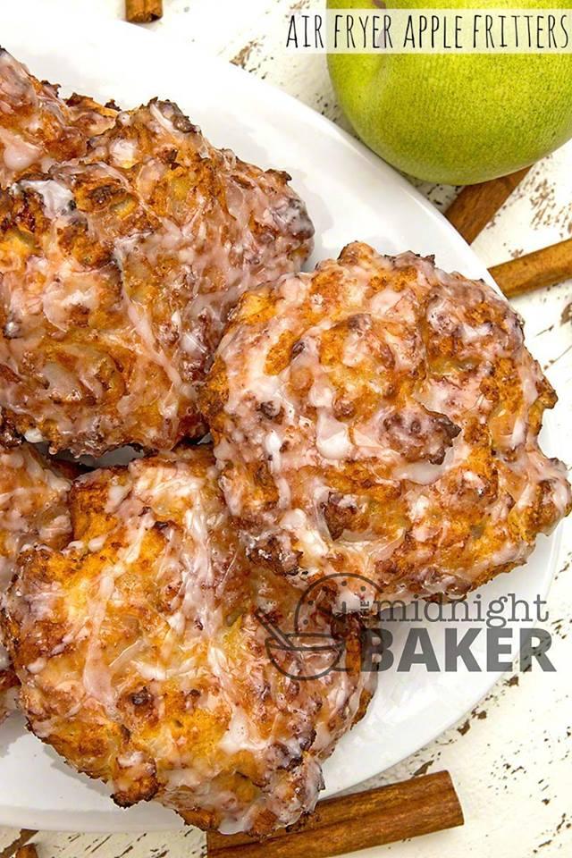 Air Fryer Apple Fritters