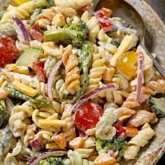 Creamy Pasta Salad with Vegetables