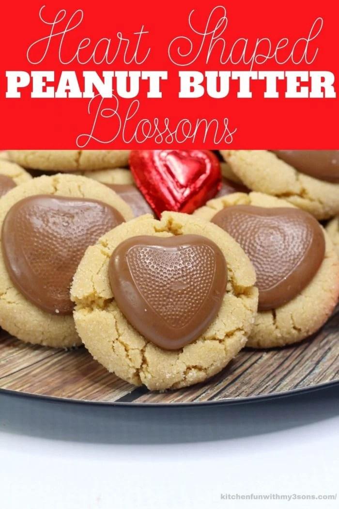 heart peanut butter blossoms for pinterest