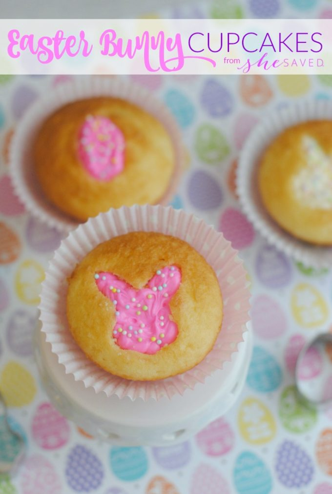 Cut-out Easter Bunny Cupcakes