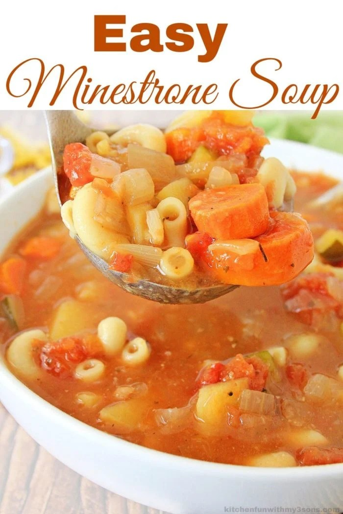 Easy Minestrone Soup Recipe for pinterest