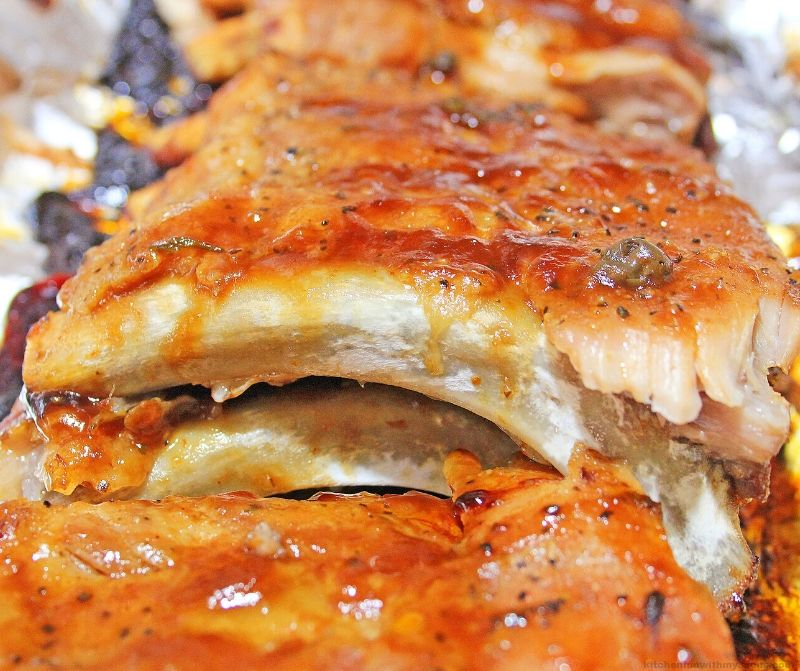 upclose picture of ribs