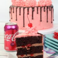Layered Cherry Coke Cake