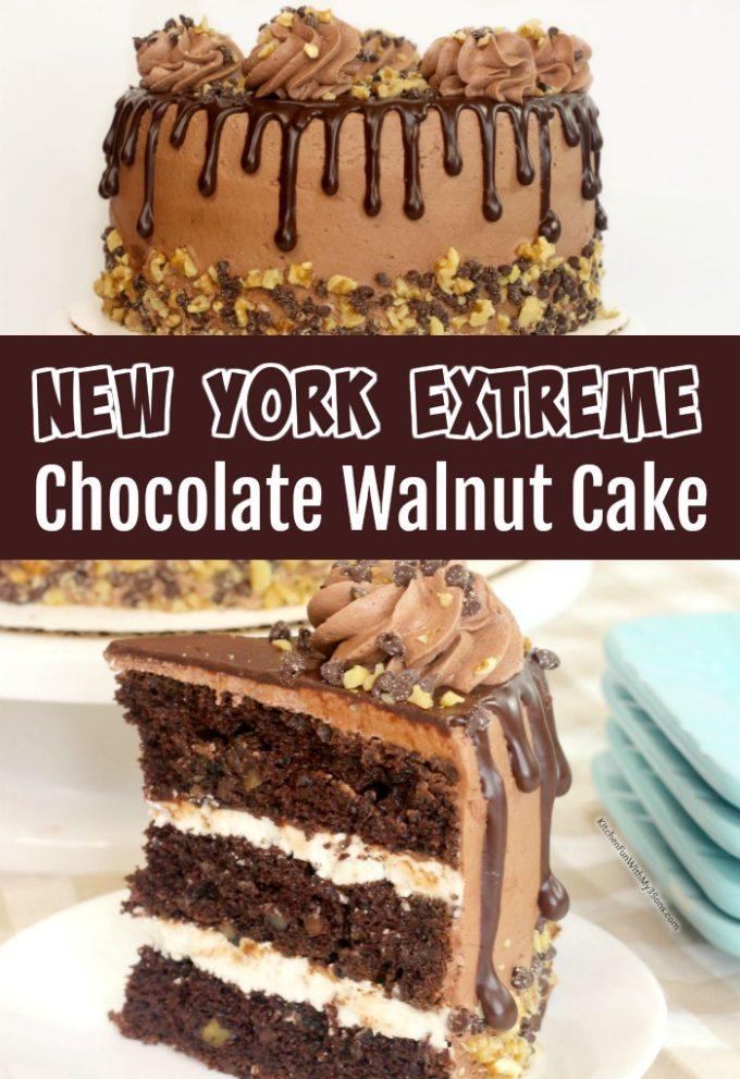 New York Extreme Chocolate Walnut Cake