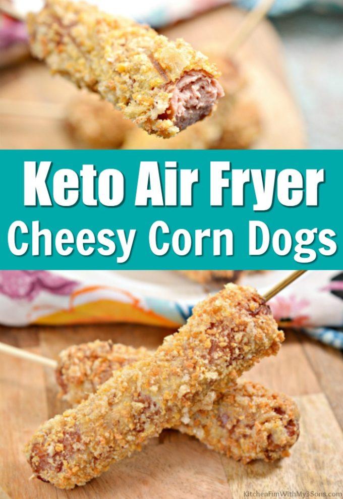 Keto Air Fryer Corn Dogs