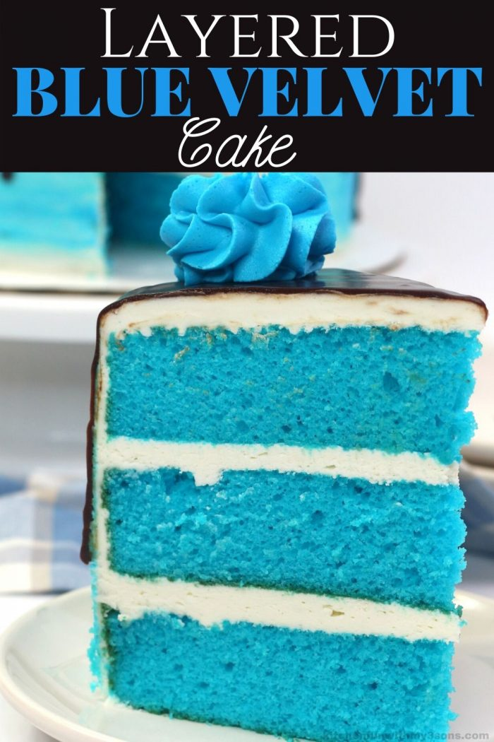Layered Blue Velvet Cake for pinterest