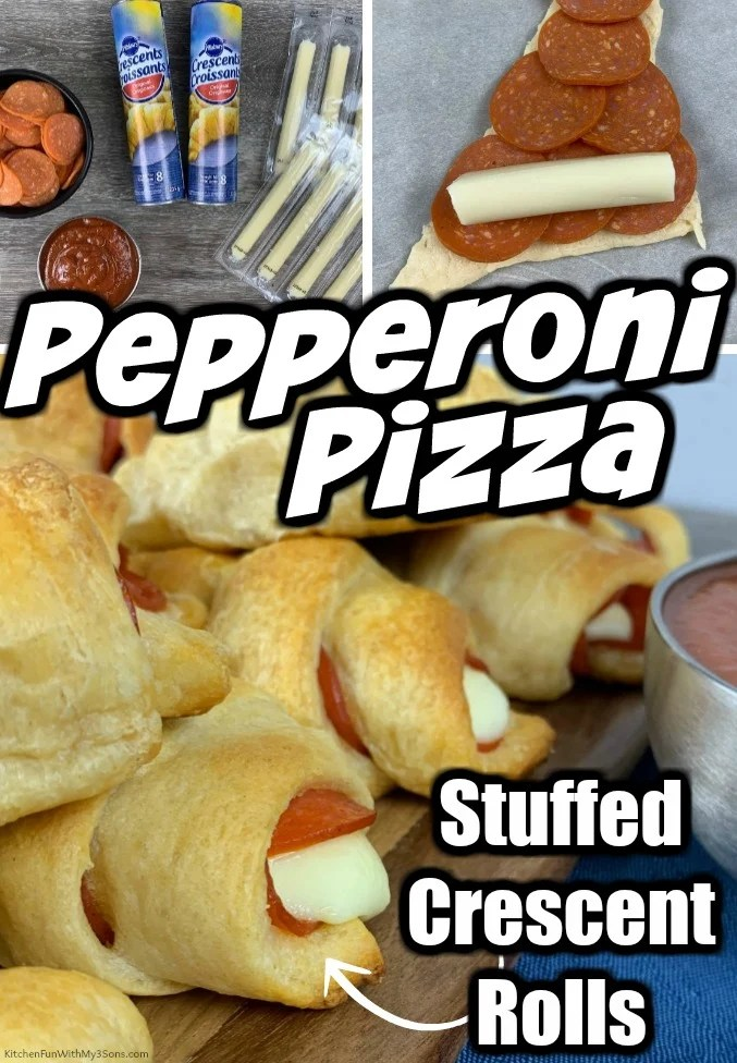 Pepperoni Pizza Stuffed Crescent Rolls