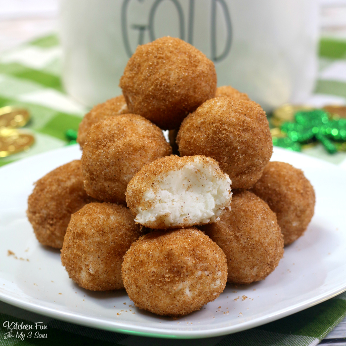 Irish Potato Candy is a yummy dessert with cream cheese, cinnamon, sugar and coconut. Contrary to popular belief, it has no actual potatoes in it.