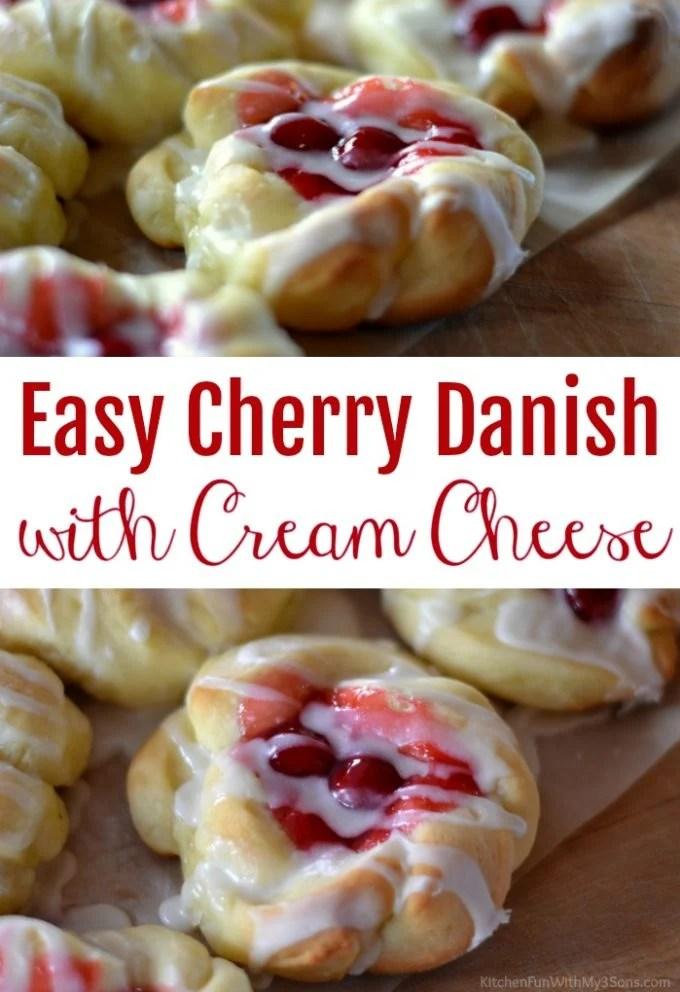 Easy Cherry Danish with Cream Cheese