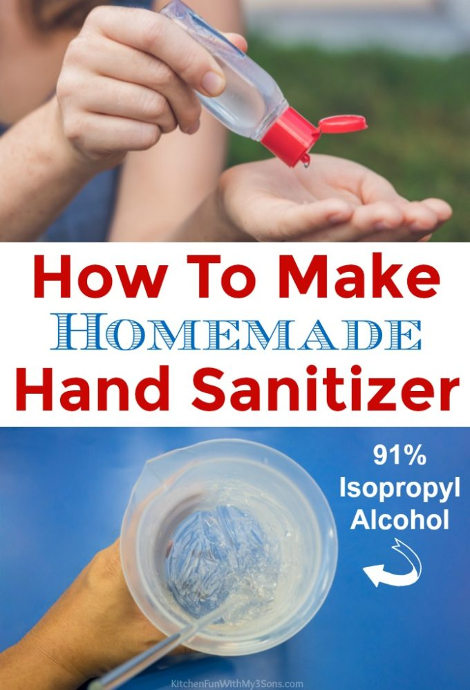 How To Make Homemade Hand Sanitizer